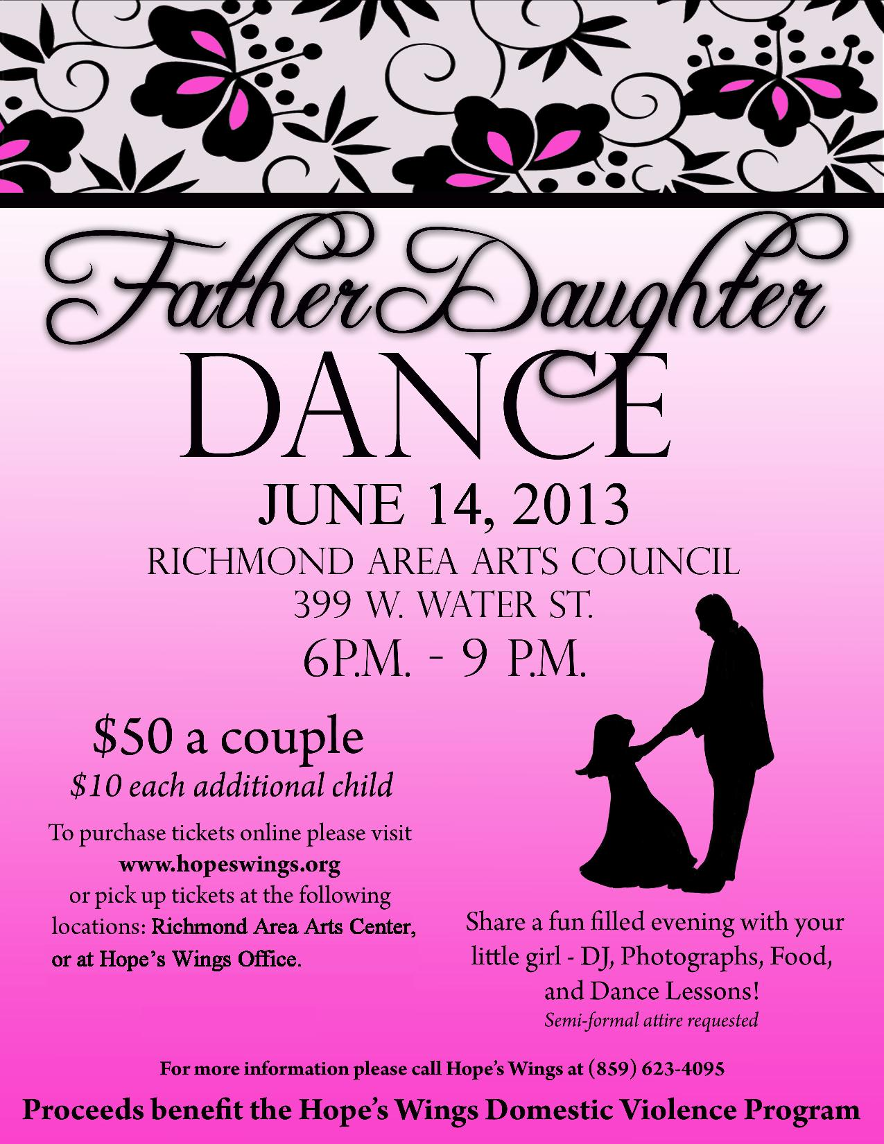 Hope's Wings: Father Daughter Dance | Richmond Area Arts ...